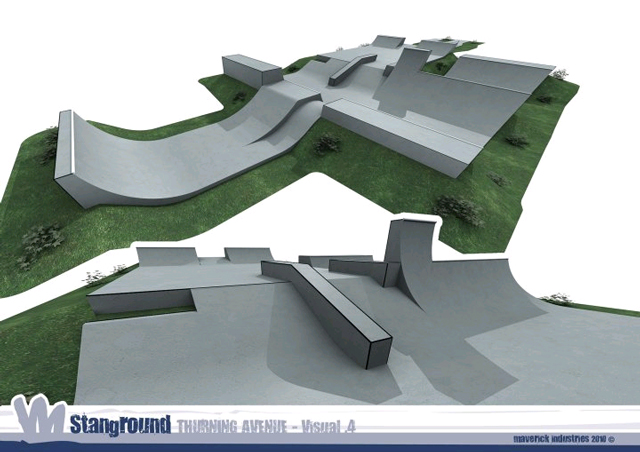 Spot check stanground skatepark features caught in for Indoor skatepark design uk