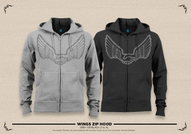 unabomber winged zip hood