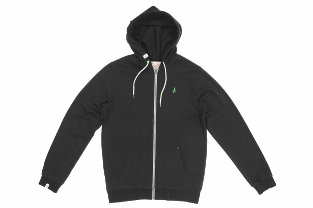 Altamont_Basic Zip Hood_Black_Green