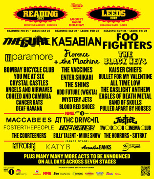 Reading & Leeds Line Up Poster 2012