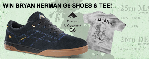 Win an Emerica Bryan Herman G6 package!