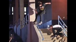 Dustin Dollin 180 to fakie 50/50 battle | Skateboarding ... Dustin Dollin 2014
