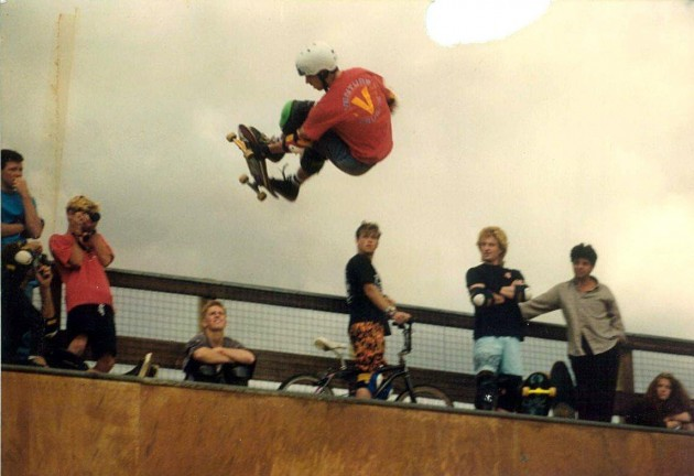 Bod Boyle at hastings ramp opening 1989