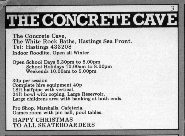 Hastings Concrete cave Ad 1979