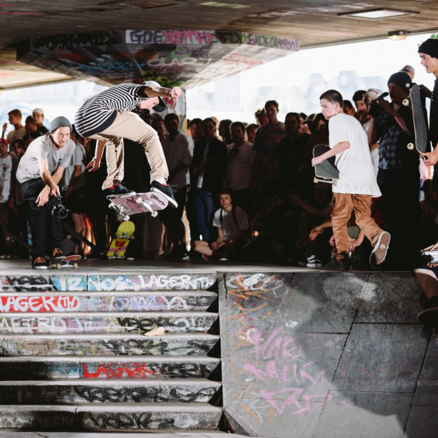 Paul-Hart-Switch-Heelflip-Globe-EU-Trippin-Southbank-Demo-London-July-2015-Photographer-Maksim-Kalanep