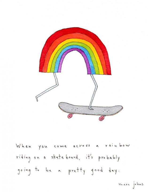 rainbow-on-skateboard_Marc Johns