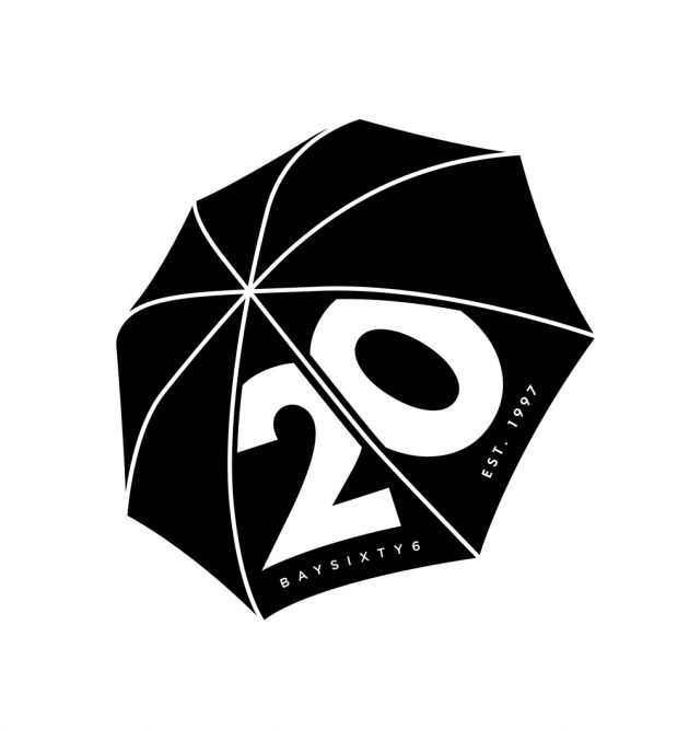 20 Years at BAYSIXTY6 Logo Black